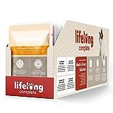 marchio amazon - lifelong alimento completo per gatti adulti- selezione di carne in salsa, 2,4 kg (24 sacchetti x 100g)