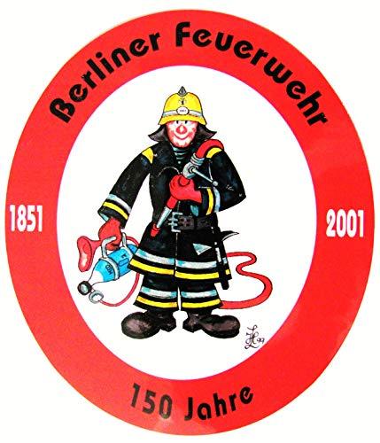 Berliner Feuerwehr - 150 Jahre - 1851 bis 2001 - Aufkleber 11,5 x 10 cm
