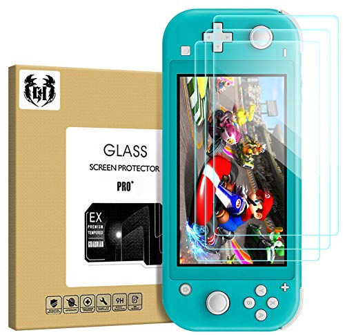 3 Pack HD Clear Screen Protector Tempered Glass Film Compatible with Nintendo Switch Lite Console, Anti Scratch Ultra Guard Protective Screen Compatible with Nintendo Switch Light