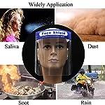 SGODDE 10 Pcs Pantalla Protección Facial Transparente, Protector Facial de Seguridad, Viseras de Seg... #4