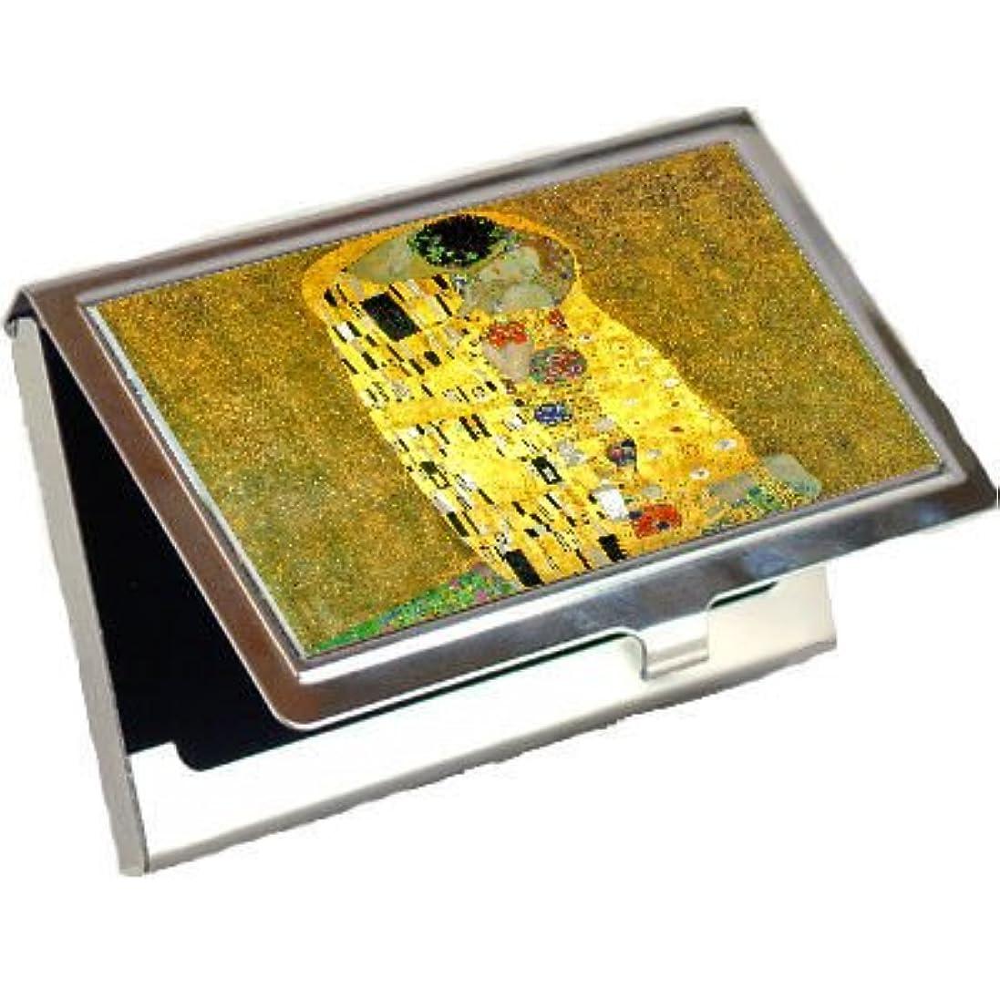 毒液弱める移行The Kiss by Gustav Klimtビジネスカードホルダー