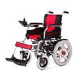 MinMin Elektrischer Rollstuhl-älterer Roller behinderter Wanderer - Rot Medizinische Ausrüstung -