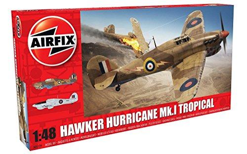 Airfix- Hawker Hurricane MK.I Tropical Avión de Juguete,