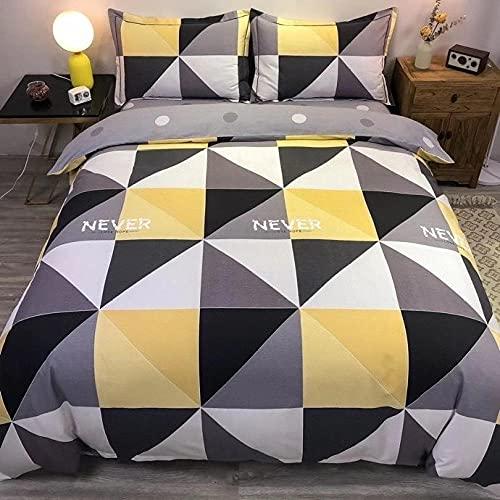 Bedclothes-Blanket Juego sabanas de Cama 150,Artículos Soldados, algodón, Enrejado Rayado Simple.-Qi_1,5 m de Cama (20 * 230cm)
