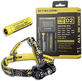 Bundle: Nitecore Headlamp HC50 2016 Model -760 Lumens w/NL189 Battery & D2 Charger