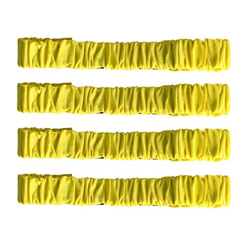 Ran's L 4 Stück Übungsbänder 3-Legged Race Bands Relay Rennspiel Elastic Krawatte (Gelb)