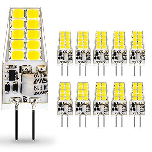 G4 LED Lampadina 12V DC/AC,Auting 3.5W LED 20 * 2835 Sostitutive Alogena 35W, Non-dimmerabile, Bianco Freddo 6000K,400LM,- 10 pezzi