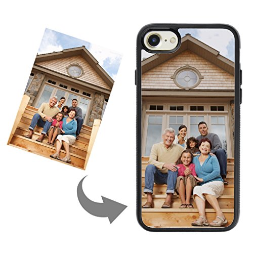 Customize Your Own Phone Case - Personalized Photo Text Logo Back Cover Case for iPhone 7 or 8,Birthday Xmas Valentines Gift for Her and Him
