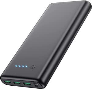 Portable Charger 36800mAh, Power Bank with Tri-Outport & Dual Inport (2.1A USB-C Input and Micro USB Input) External Battery Pack Compatible with iPhone 12/12Pro/11,Galaxy S20 Tablet etc[2021 Version]