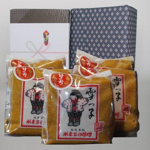 【お中元・夏ギフト】雪っ子 甘口味噌(1kg×5袋セット)/甘口仕立ての味噌