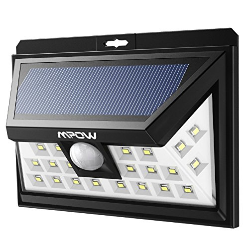 Price comparison product image Mpow Solar Lights Motion Sensor Security Lights,  24 LED Solar Powered Light,  Walkway Lighting Wireless Waterproof Security Light for Patio,  Deck,  Yard,  Garden,  Driveway,  Outside Wall