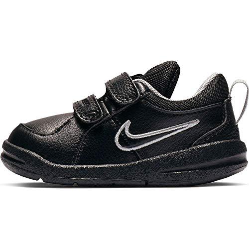 Nike Unisex-Kinder Pico 4 (TDV) Lauflernschuhe, Schwarz (Black/Black-Metallic Silver 001), 19 EU