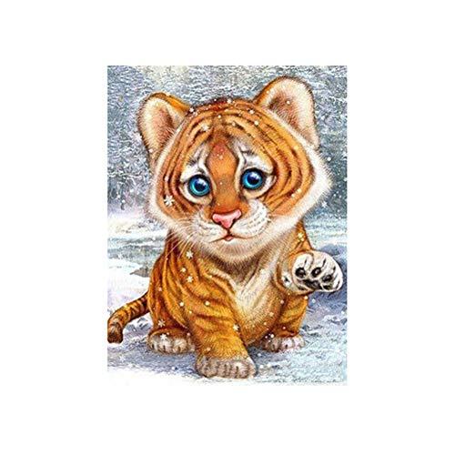 Vosarea DIY 5D Pintura Diamante Bebé Tigre Rhinestone Pintura Kit de Punto de Cruz Decoración de La Pared artesanía