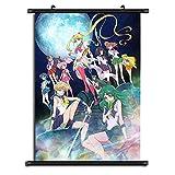 GMANKE Sailor Moon Crystal Rollbild Home Decor Anime Wall