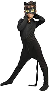 Halloween Girls Cosplay Ladybug Marinette Black Cat Noir Jumpsuit Beetle Suit