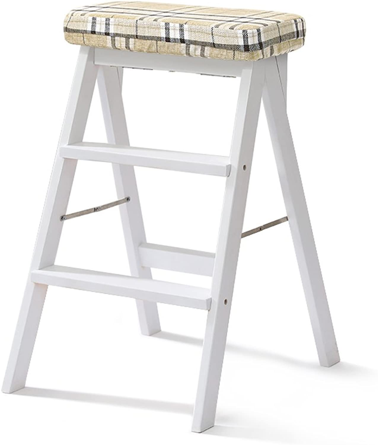 Solid Wood Stool Home Ladder Stool Simple Modern Portable Folding Stool Multifunctional Creative Kitchen high Stool Furniture (color   J, Size   402064cm)