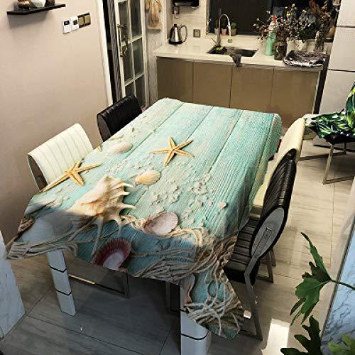 CCBAO Mantel Impermeable De Poliéster Simple Moderno, Mantel Multifuncional con Estampado De La Serie Junto Al Mar