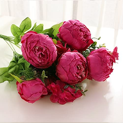 Abraha70- 50cm Pink Silk Peony Bouquet Max 45% OFF Ar Big Artificial Flowers Now on sale