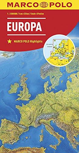 MARCO POLO Länderkarte Europa, physisch 1:2 500 000: Wegenkaart 1:2 500 000 (MARCO POLO Länderkarten)