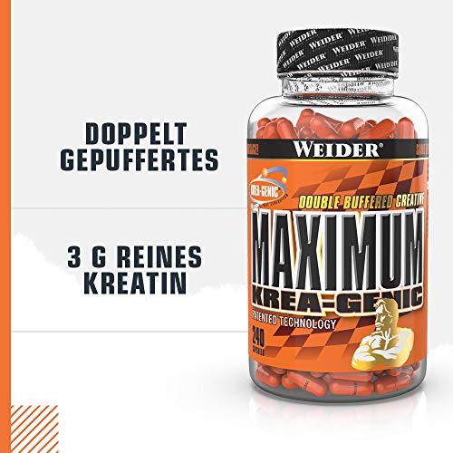 Weider Maximum Krea-Genic, 240 Kapseln, 1er Pack (1 x 208 g) - 4