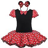 iEFiEL Mädchen Kinder Maus Kostüm Kleid 86 92 98 110 116 128 140 Karneval Party Hochzeit Tutu...