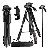 Regetek Camera Tripod Travel Monopod (70' Aluminum Professional Video...