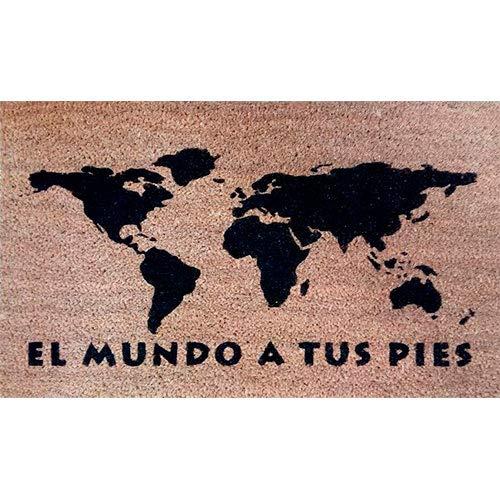 Tatamba Felpudo El Mundo a Tus Pies, para comentar con ánimo el día - Regalo Hogar Optimista