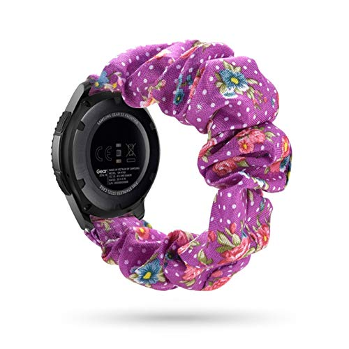 LYDBM 20 22mm scrunchies Banda de Reloj elástica para Samsung Galaxy Watch 46mm Active 2 42mm Huawei Watch GT2 Strap Gear Gear S3 (Color : 9, Talla : 18mm)