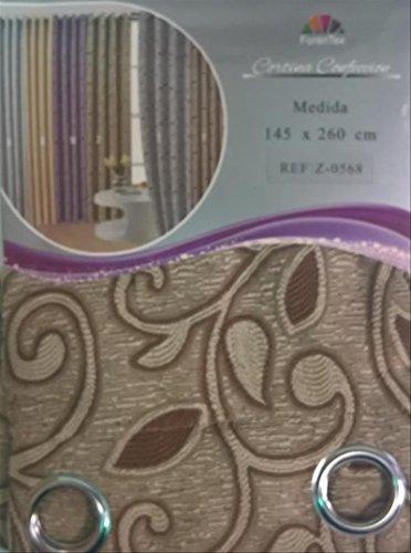 ForenTex - Cortina Semi-Opaca (Z-0568), Marrón Claro, 145 x 260 cm, Curtain Aislante de Calor y Frio, reducción Ruido, Anti Polvo