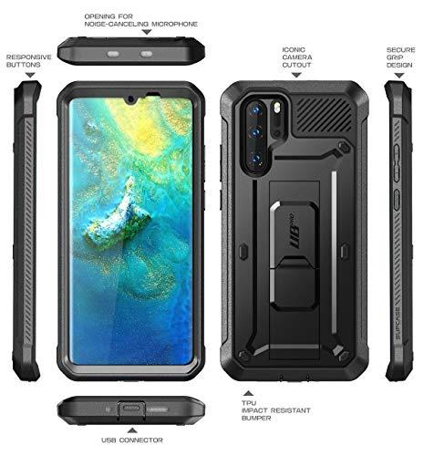 SUPCASE Huawei P30 Pro Hülle 360 Grad Schutzhülle Robust Handyhülle Bumper Case Cover [Unicorn Beetle Pro] mit Integriertem Displayschutz und Ständer für Huawei P30 Pro 6.47 Zoll 2019 (Schwarz)
