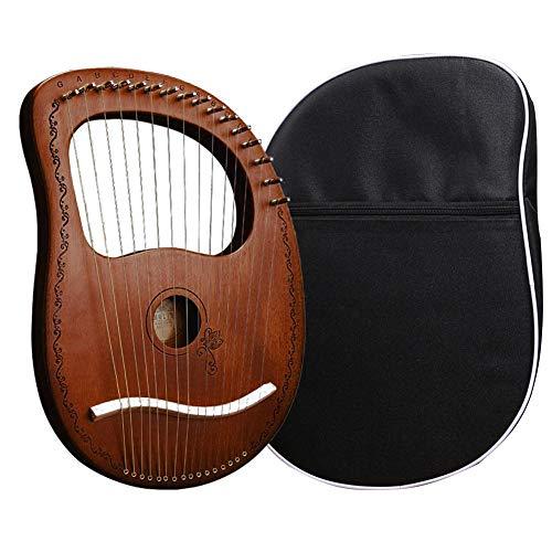 Lyra Harfe, 16 Metall Saiten Harfe Mahagoni Laugen Harfe, Tragbare Stabile Klangqualität Harfe Für Instrument Liebhaber Anfänger