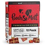 Pooch & Mutt - Wet Dog Food (Grain Free), Complete & Fresh, Turkey & Chicken 12x375g