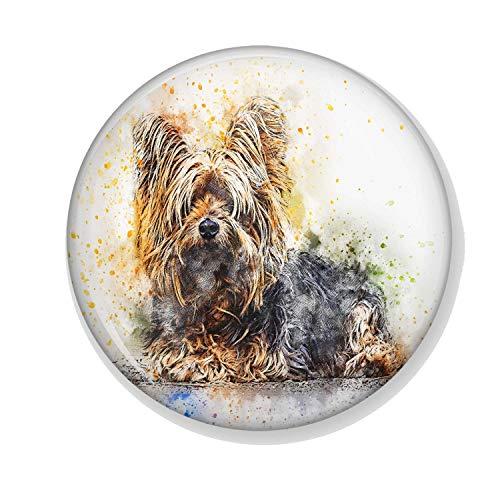Gifts & Gadgets Co. Yorkshire Terrier - Magnete apribottiglie rotondo da 58 mm