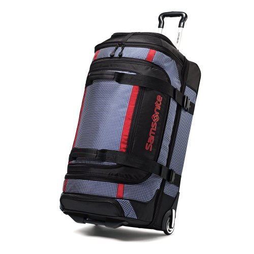 Samsonite Ripstop Wheeled Rolling Duffel Bag, Blue, 30 Inch