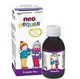 Neo Peques | Jarabe Infantil para Niños Propolis Plus - 150 gr |Con Llantén, Malvavisco y Tomillo | Tomar 0,5 ml/kg de peso corporal | Dosis diaria máxima 20 ml | Apto a Partir de los 12 meses