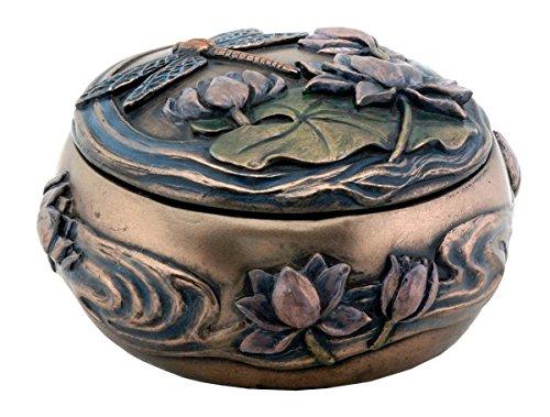 Summit stealstreet Libelle mit Blumen Jugendstil Design Jewelry Halter Box