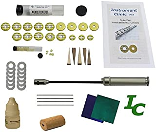 Instrument Clinic Flute Pad Kit, fits Bundy Flutes, with Instructions, Made in USA!