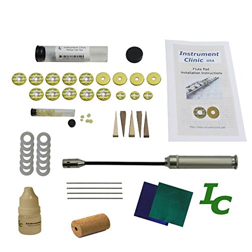 Instrument Clinic Flute Pad Kit, fits Selmer Flutes, with Instructions, Pads made in USA!