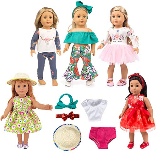 ebuddy 12pc Doll Clothes Accessories with Popular Elements Horn Style,Unicon,Elk,Christmas for 18 inch American Gril Doll,Our Generation Doll