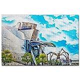 España Museo Guggenheim Bilbao Puzzle 1000 Piezas para Adultos Familia Rompecabezas Recuerdo Turismo Regalo