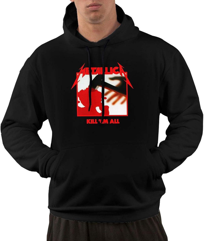 NolanO Metallica Kill Em All Men's Hoodies Sweater With Pocket Black