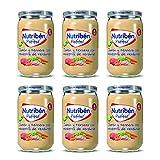 Nutribén Potitos De Jamón, Ternera y Verduras Desde Los 6 Meses Pack de 6 x 235gr. 6 Unidades 235 g