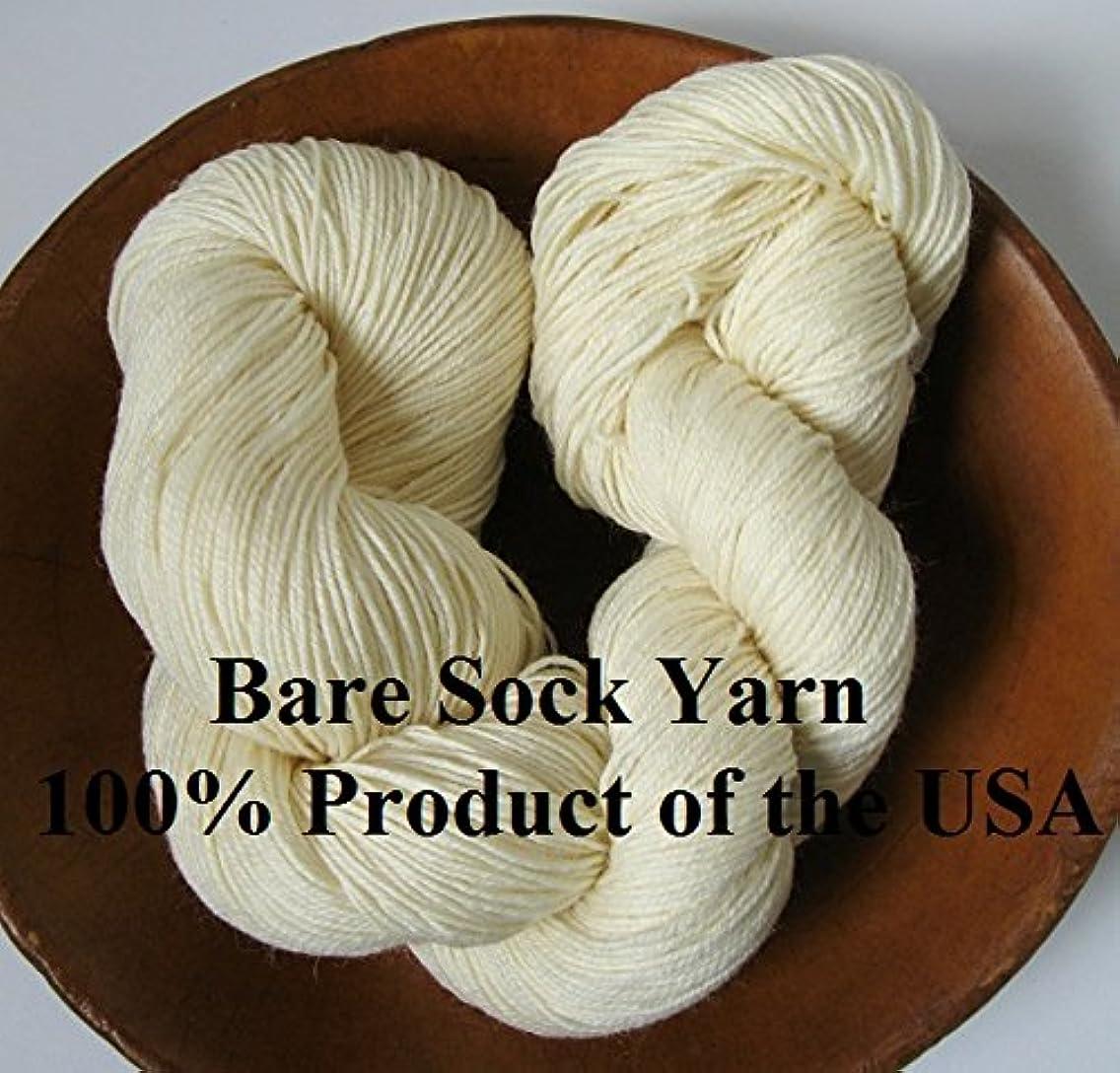 Bare Fingering Sock Yarn 100% Superwash Merino Undyed Naked Ecru for Dyeing Knitting Crochet