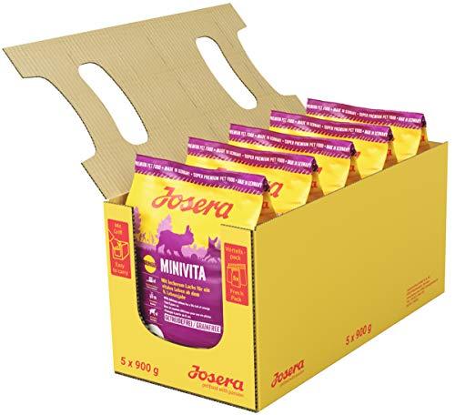 JOSERA MiniVita (1 x 900 g) | Hundefutter für kleine Rassen ab dem 8. Lebensjahr | Super Premium Trockenfutter für ältere Hunde | 1er Pack
