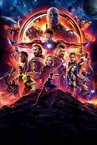 Puzzle House- Infinity Civil War, Basswood Jigsaw Puzzles, Avengers Movie Stills Poster, Fine Cut & Fit, 300/1000 Piezas en Caja Fotografía Juguetes Juego Arte Pintura para Adultos y niños -0424