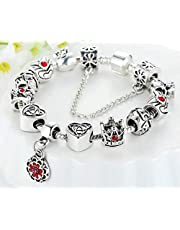 Silver 925 Europe Charm Bracelet Bangle Pandora style gift for women