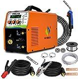 HITBOX MIG250 3 en 1 Soldador de Hilo 180A 230V Inversor IGB Digital Soldadura Sin gas/Con gas Soldadora de MAG MMA Lift TIG con alambre de alimentación automática 2T/4T