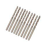 10 stücke M35 HSS Cobalt Bohrer HSS-CO Bohrer Set Spiralbohrer 1-5mm zum Bohren auf Edelstahl(5mm)