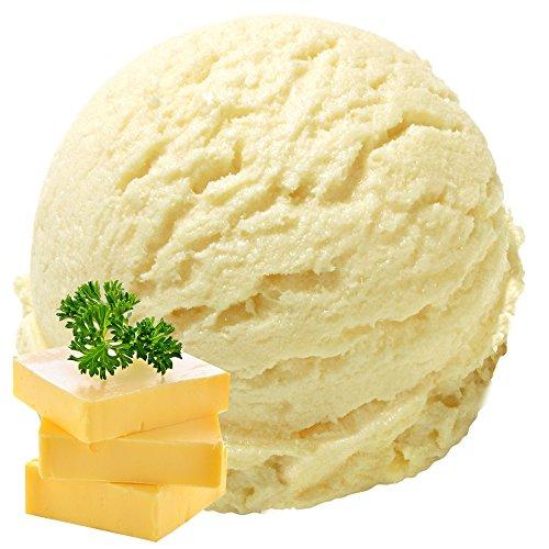 Butter Vanille Geschmack 1 Kg Gino Gelati Eispulver Softeispulver für Ihre Eismaschine