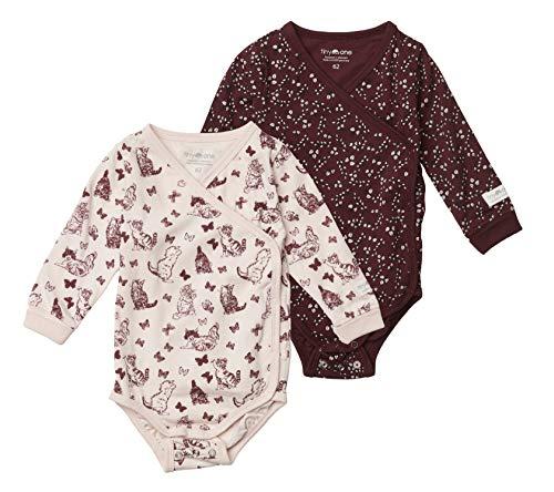 Tiny One Baby Wickelbody | Verschiedene Sets | 3er Set Basic | 2er Set Print | Unisex | Mädchen und Junge | Bio Baumwolle | GOTS | 0-4 Monate, Farbe:Print - 2er Set, Größe:62 | 2-4 Monate
